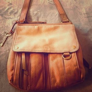 Vintage fossil leather cross body bag
